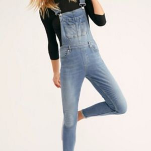 NWT Free People Lexden Skinny Cropped Overall